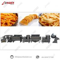 China Automatic French Fries Making Machine|Commercial Frozen French Processing Line|French Fries Production Line wholesale