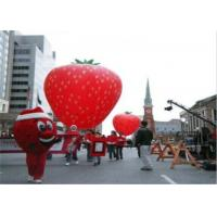 China Advertising Inflatables Strawberry Character Balloon Giant Fruits Flying Ball wholesale