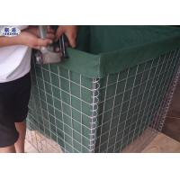 Hot Dipped Galvanized Hesco Defensive Barriers , Wire Mesh Retaining Wall