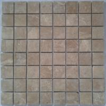 China Emperador light marble square mosaic wholesale
