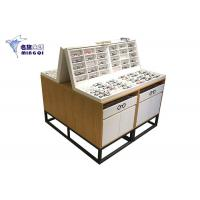 China Wooden Eyeglass Display Case / Eyewear Display Case Double Side With Light wholesale