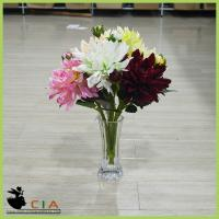 China Best-selling Coloful Fabric Flower Artificial Flower with Silk Petals and Green Leave Bush wholesale
