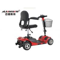 China Outdoor Red Mobility Scooter / Folding Mobility Scooter 6km/Hour Max Speed wholesale