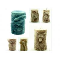 China Animal Stereo Cylindrical Silicone Candle Molds , Bear / Dolphin / Horse Salt Carving Mould wholesale