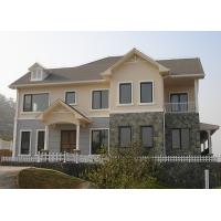 China Large Steel Structure Villa Steel Steel Frame Modern House With ALC Wall Panel on sale