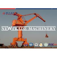 China Rail Mounted Floating Dock Portal Slewing Crane With Container Spreader Or Grab on sale
