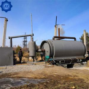 China 12ton 12tpd Automatic Waste Tire Recycling Pyrolysis Plant For Making Furnace Oil And Carbon Black, Steel wholesale