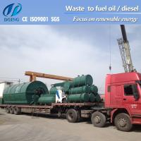 China waste recycling machine turn waste tyre/plastic to fuel oil on sale
