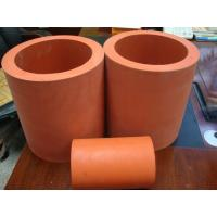 China High Temperature 300C Hot Stamping Red Silicone Rubber Roller 300 mm Length on sale
