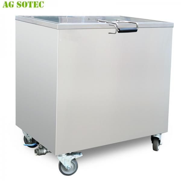 Quality 168L 230L Kitchen Hood Stainless Steel Soak Tank With Lockable Castor Wheels for sale