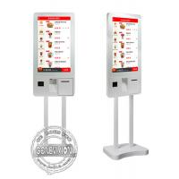 China 32inch Windows10 Ordering Machine Kiosk, PCPA Film Touch Screen Kiosk with Thermal Printer, QR code Scanner and POS on sale
