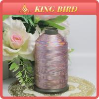 China Space Dyed Handmade Polyetser Embroidery Bobbin Thread Yarn for Weaving wholesale
