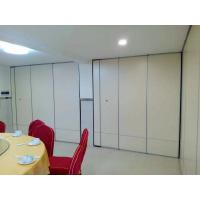 China Hotel Decorative Wooden Partition Wall , 85mm Thickness Operable Acoustic Room Dividers wholesale