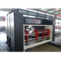 China 3 Color Printing Slotting Die Cutting Machine With Automatic Feeding Chain Feeder wholesale
