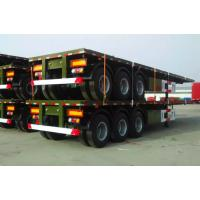 China High Tensile Carbon Steel 3 axles 20/40ft Flatbed Container Trailer  for Sale on sale