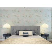 Buy cheap Moisture Proof Country Floral Wallpaper / PVC Embossed Wall Covering For Living Room from wholesalers