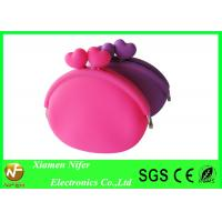 China Jelly Waterproof Handbag Silicone Wallet Purse / Rubber Coin Purse for Girls wholesale