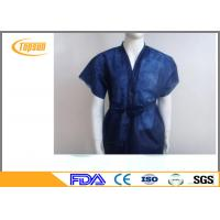 China Non Woven Disposable SPA Robes Clothes , PP SMS Hotel Sauna Suit Gown wholesale