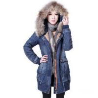 China Women Blue Jean Coat with Hoody wholesale