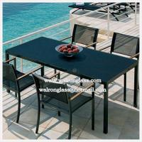 China Fashion Outdoor Furniture Dining Table with Toughened Glass wholesale