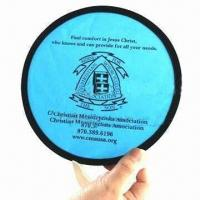 China Pop-up Fan, Made of 190T Nylon and Steel Ring wholesale
