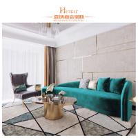 China Contemporary Luxury Living Room Furniture / Glass Top Metal Frame Coffee Table Golden Color wholesale