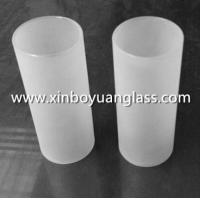 Clear and Frosted Glass Oil Lamp Chimney Cylinder
