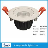 China D120mm X H65mm cob Dimmable LED Downlights high brightness 5w 10w 15w on sale