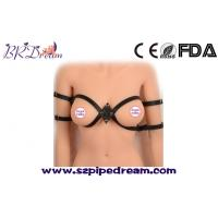 China Black PU Leather Open Breast Body Harness Adjustable Fetish Wear Bondage Restraints Sex Toys for Woman Erotic Costumes wholesale