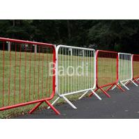 China Plastic Coated Crowd Control Barrier For Concert / Temporary Fence , Red Orange White wholesale