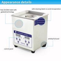 Popular stainless steel body 2L digital heated denture ultrasonic cleaner 40KHz SUS304 CE