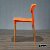 China Commercial Wooden Dining Chairs , Minimalism Plastic Outdoor Dining Chairs wholesale