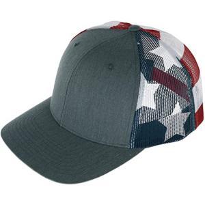 China 56cm Flat Brim Snapback Hats Plain Blank Black Trucker Cap wholesale