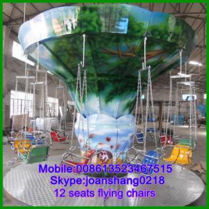 China playground amusement equipment 12 seats mini flying chairs on sale