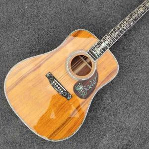 China Real Abalone Inlays Ebony Fingerboard 41 Koa Wood Classic Acoustic Guitar on sale
