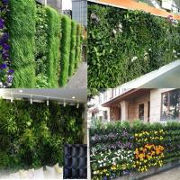 China PE Fabric Reusable Hanging Flower Bags , Vertical Garden Planters For Vegetable wholesale