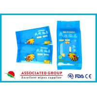 China Individual Packaging Wet Wipes 1PCS* 10/Bag Fragrance Free Cotton-like Texture wholesale