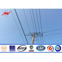 China High Voltage Electrical Power Pole Telescoping Pole Customized Powdered Painting wholesale
