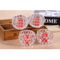 China Clear Ball Shape Candle Glass Cups High White Glass Household Decorative wholesale