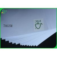 Buy cheap FSC Uncoated And Virgin Pulp Style High White 70gsm White Wood Free Paper from wholesalers