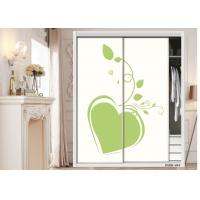 China Glass Effect Bedroom Wardrobe Waterproof Interior Sliding Door With E1 Glue wholesale