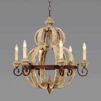 China Industrial Grey Wood Chandelier for Indoor home lighting (WH-CI-13) on sale