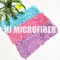 China 100% Polyester Material Fluffy 18 Chenille Wet Mop Pad , Microfiber Mop Refill Pad on sale