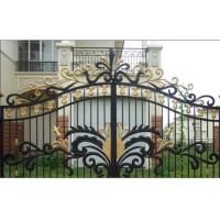 China Garden wrought iron gate and fence,luxury wrought iron gate,decorative wrought iron gates wholesale