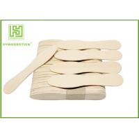 China Eco - Friendly Birch Wooden Ice Cream Spoons Customized Logo And Package wholesale
