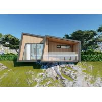 China Gray Wood Luxury Prefab House Kits / Duplex Modular Homes With Bathroom wholesale