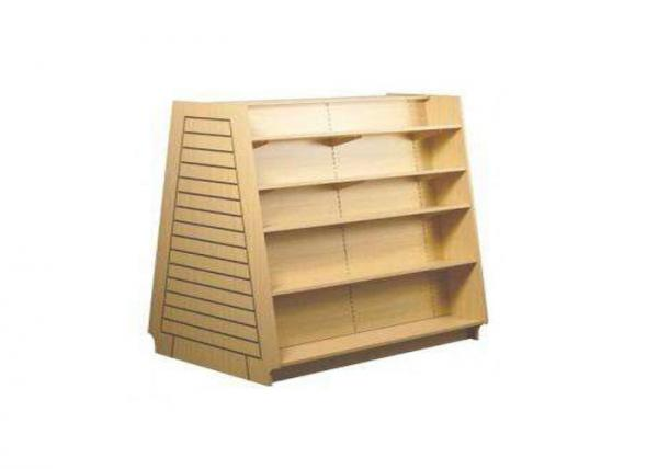 Quality Stacked Type Wood  Slatwall Display Stand Freestanding Space Saving For Retail Shop for sale