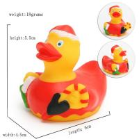 China Promotional Gift Mini Christmas Rubber Duck With Santa Hat/ Custom Logo 6P Free wholesale