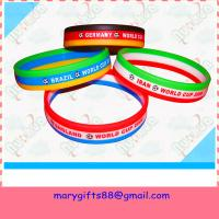tri-color silicone bracelet with printing logo