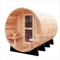 China Outdoor Dark Red Cedar Spas And Hot Tubs Bath Barrels , home spas and hot tubs wholesale